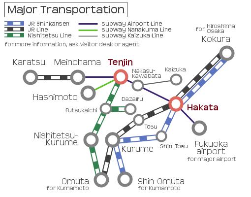 Transportation in Fukuoka take a walk around Fukuoka Japan